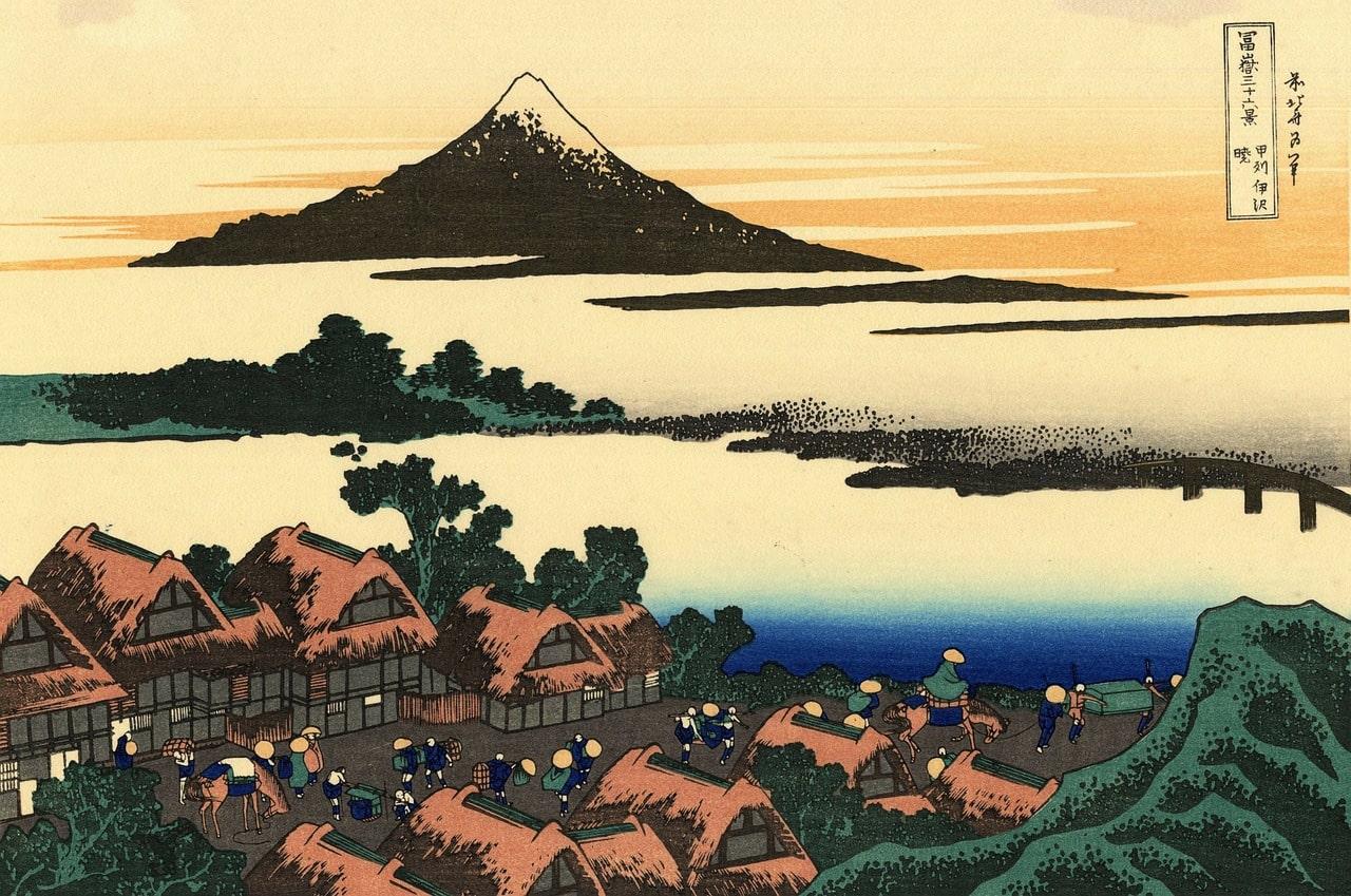 Mount Fuji print Edo Japan