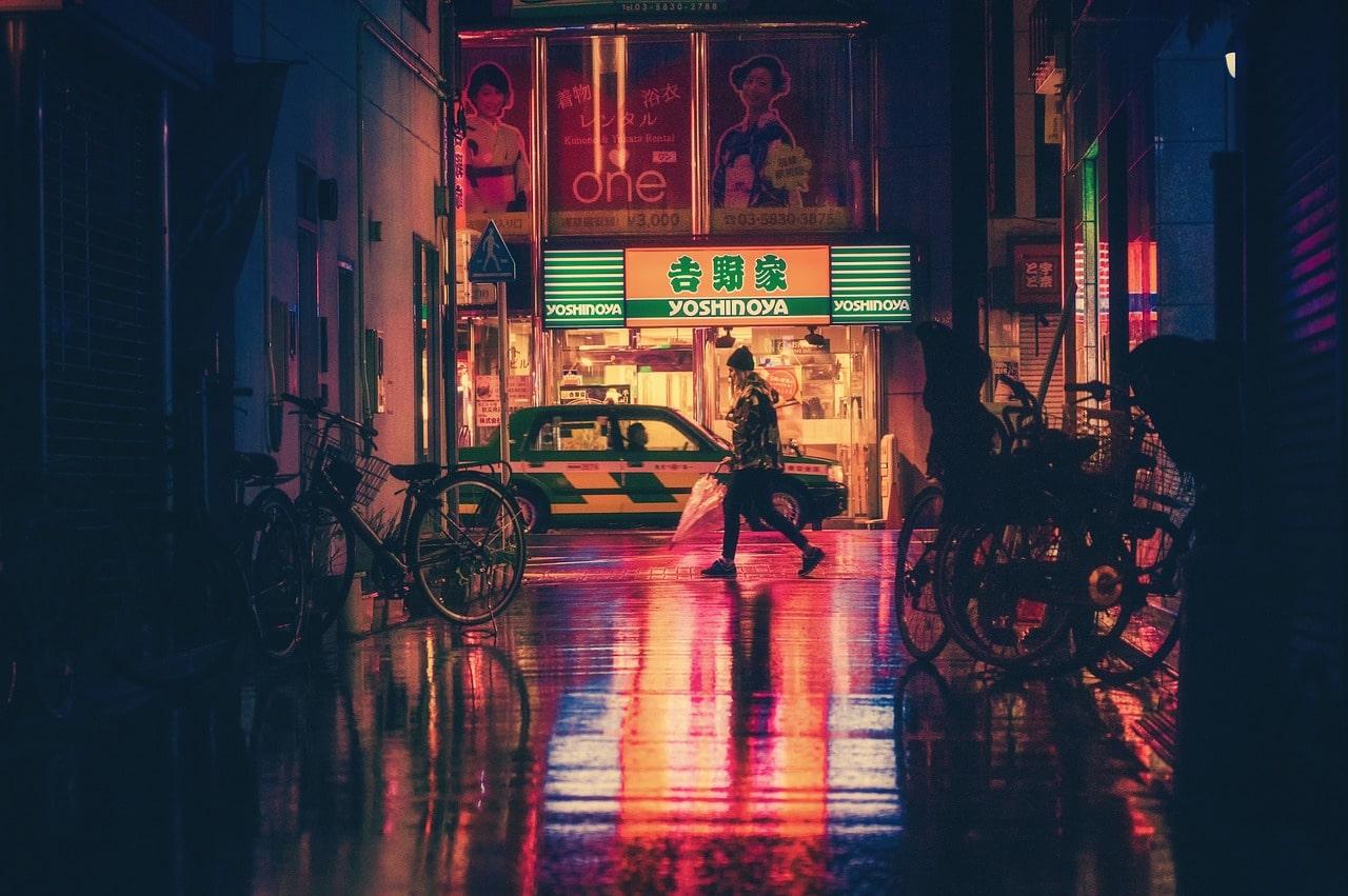 Osaka Japan bei Nacht