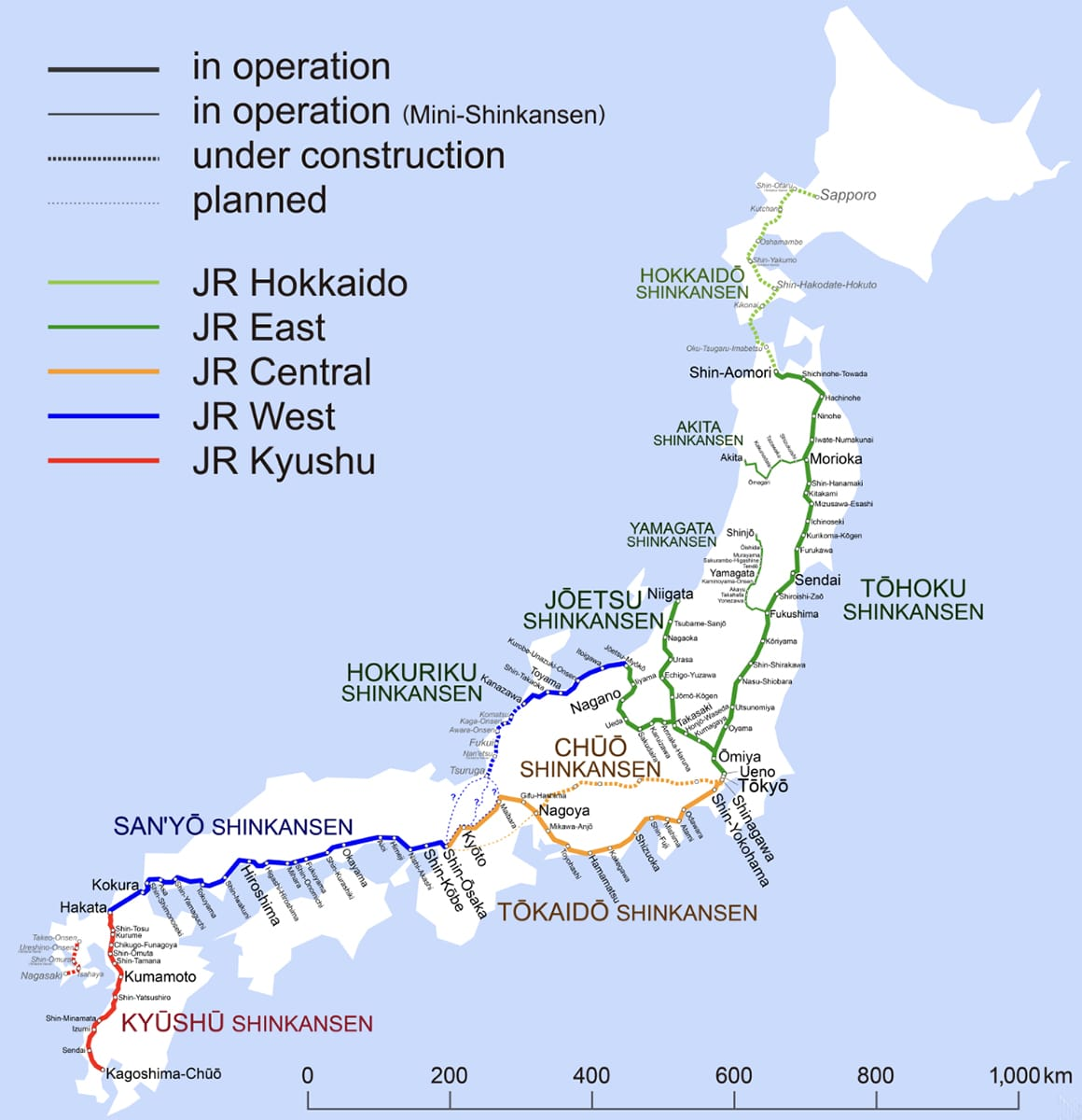 Shinkansen Bahnen Japan