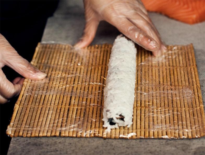 Sushi Rollen Ungeschnitten